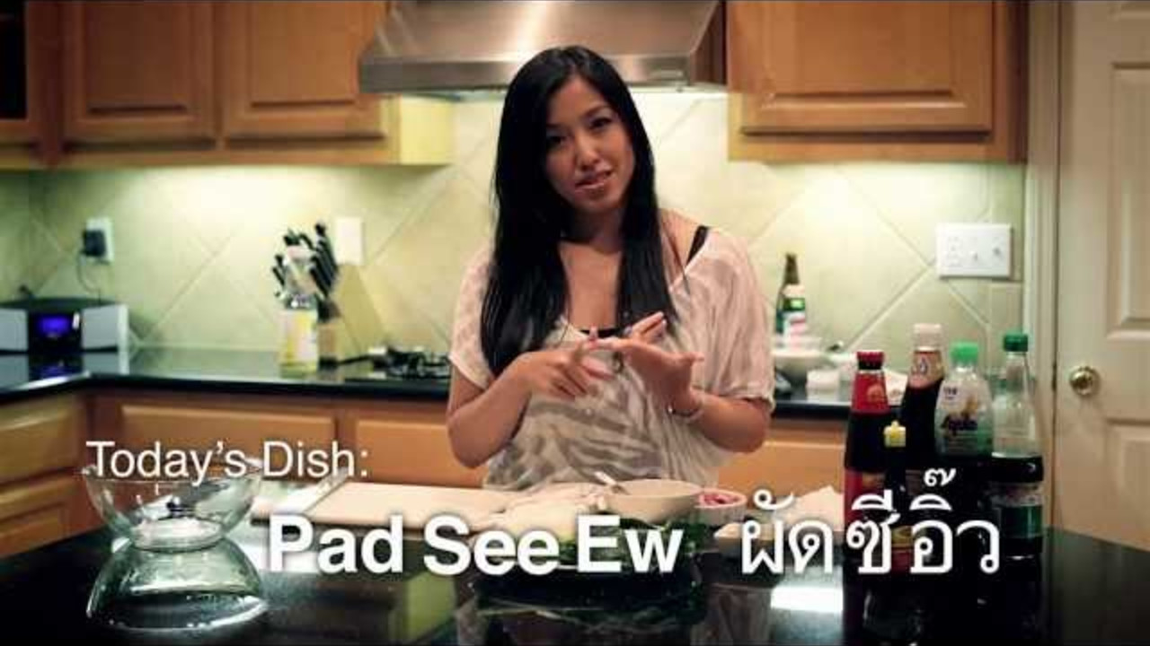 pad see ew hot thai kitchen cooking videos grokker