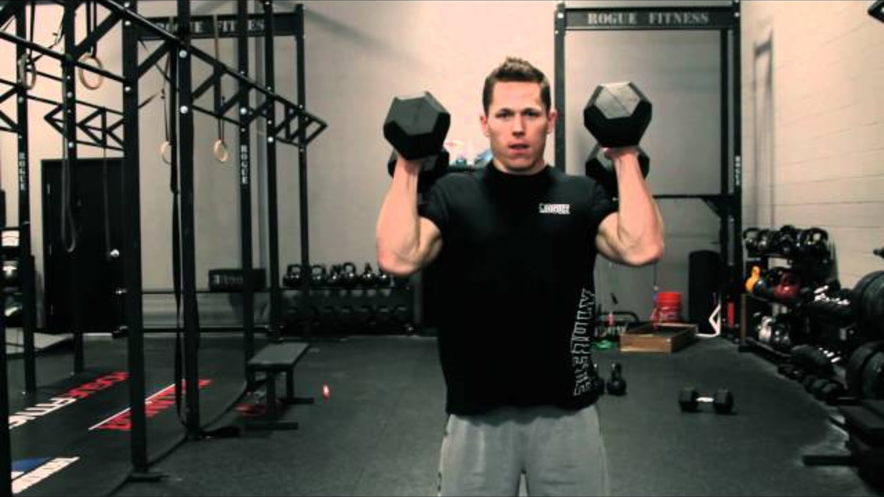 Movement Demo Dumbbell Hang Power Clean And Press Push