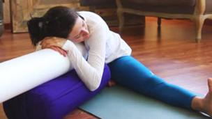 breaking down shoulderstand  yoga videos  grokker